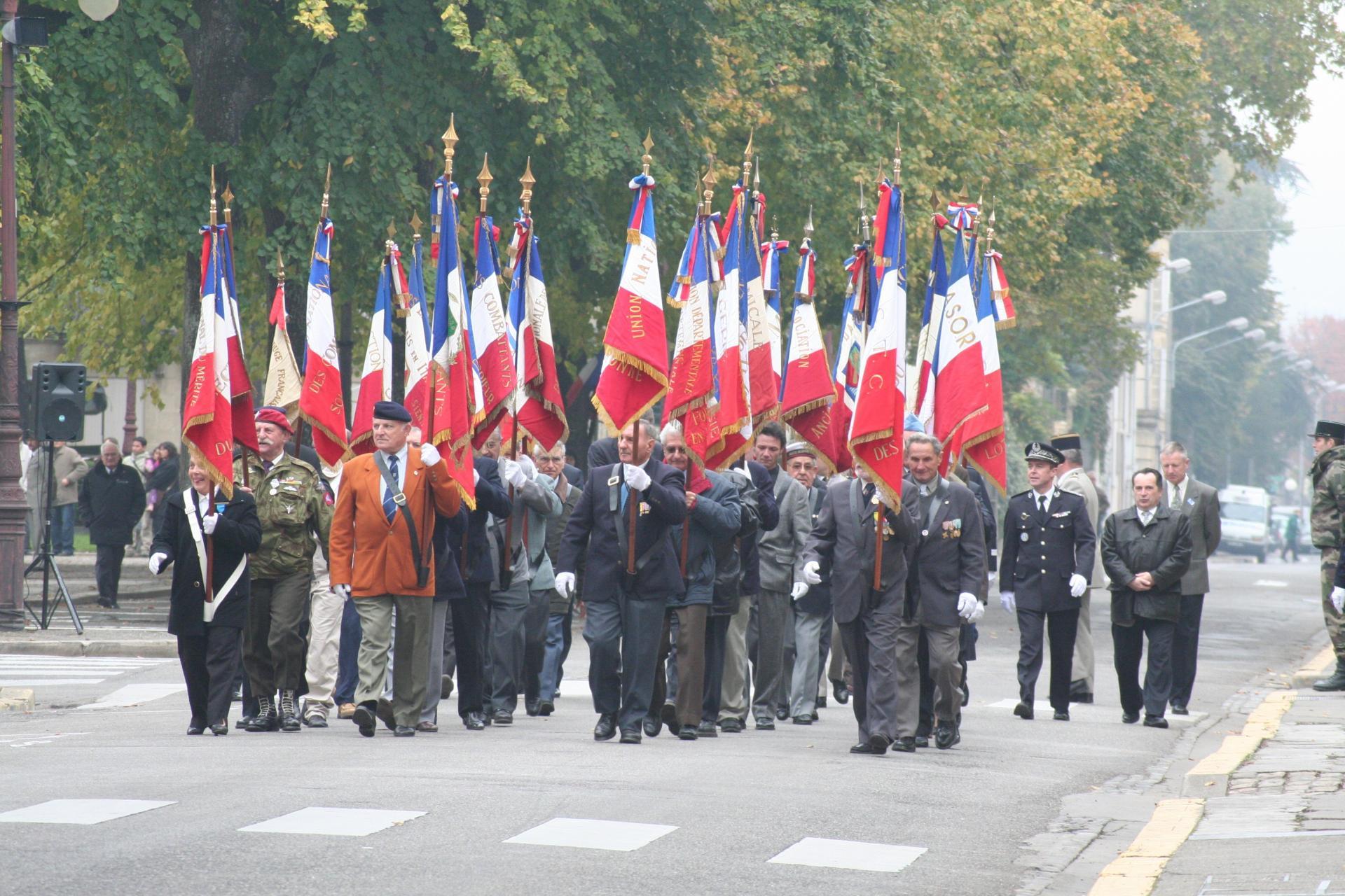 Les porte drapeaux
