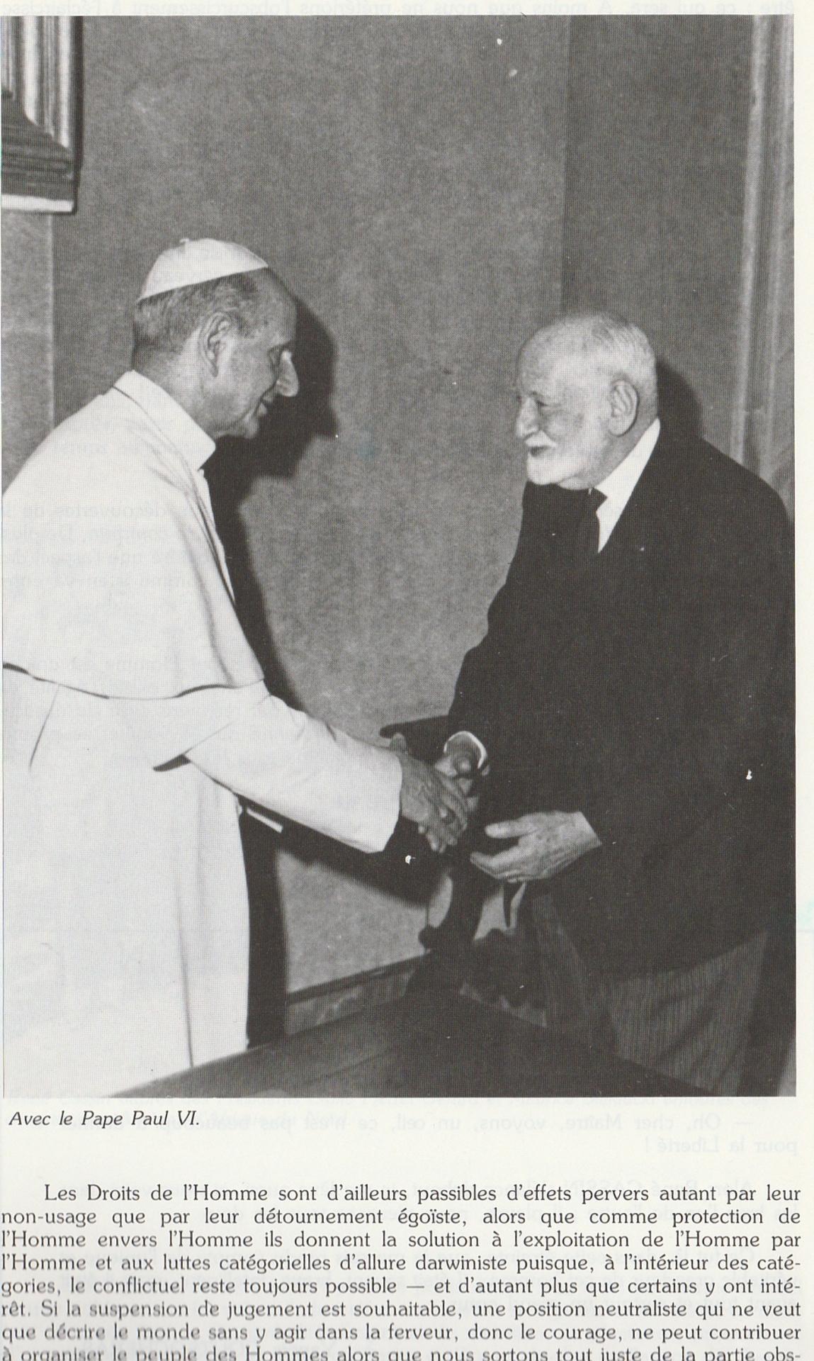 Rene cassin et le pape